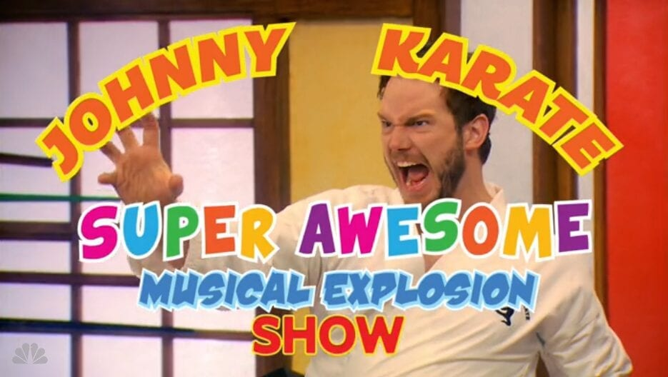 TV Review: Parks and Recreation S7E10 and E11 // The Johnny Karate Super Awesome Musical Explosion Show and Two Funerals