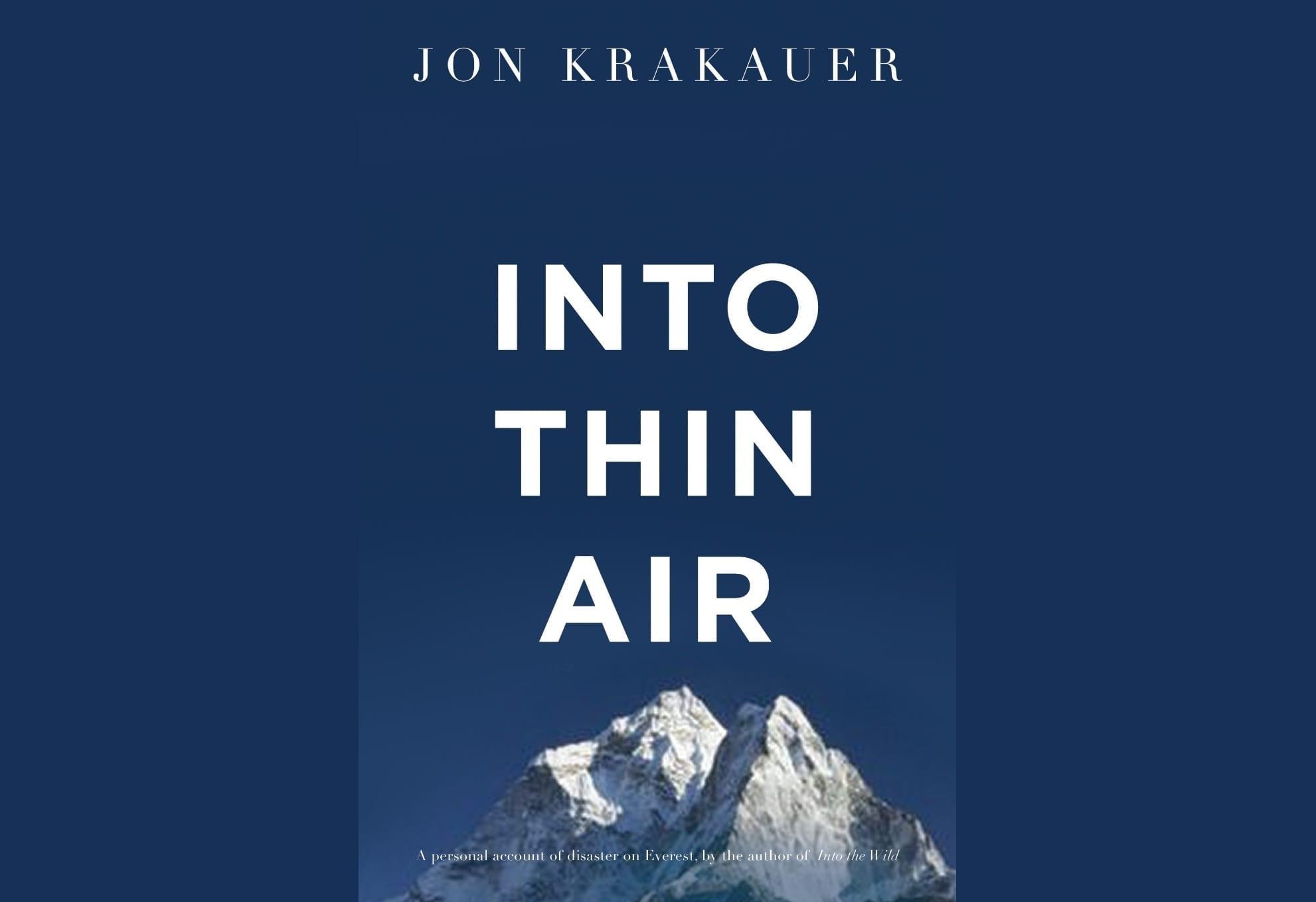 Book By My Bedside: Into Thin Air // Jon Krakauer