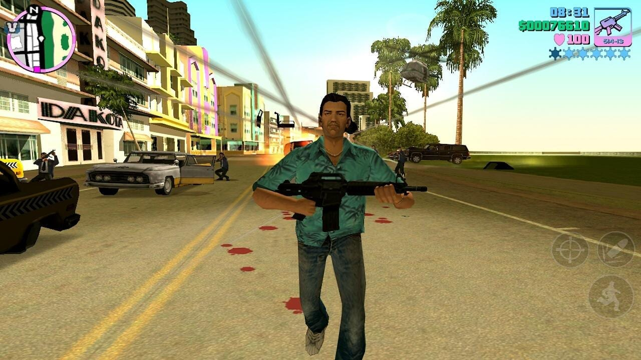 Vice City Tommy on a 5 star wanted level