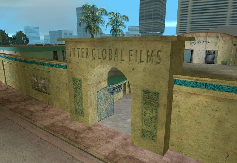 Vice City film studio asset
