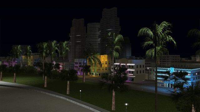 Vice City night neon shot