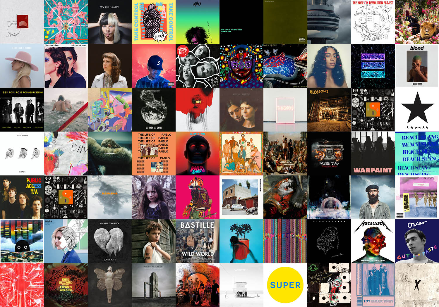 Albums Of The Year 2016 – Top 5