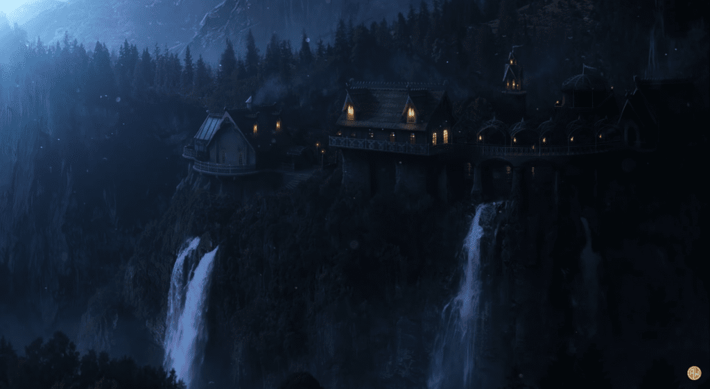 lord of the rings Rivendell ambient music howard shore elvish soundscape