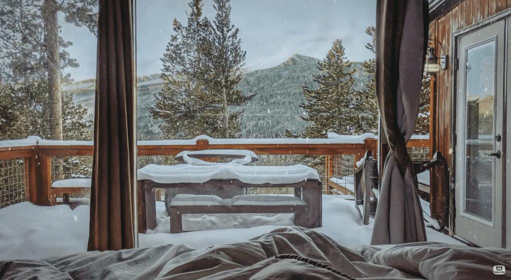 snowy winter Christmas asmr music piano soundscape cosy