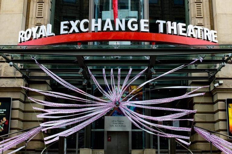 Theatre News: Scene Change Project Wraps Empty Theatres In Pink Tape