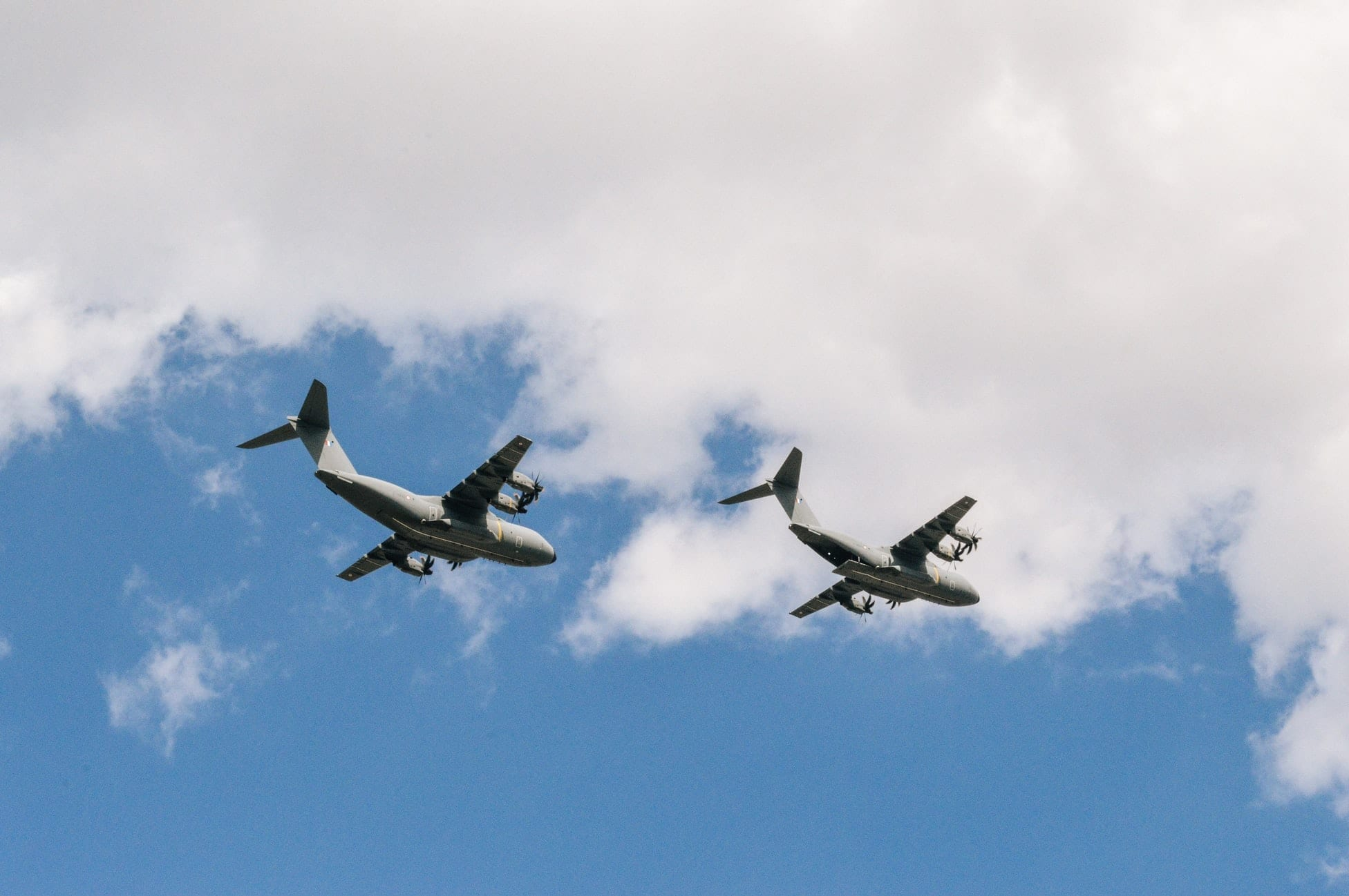 transportation planes travelling