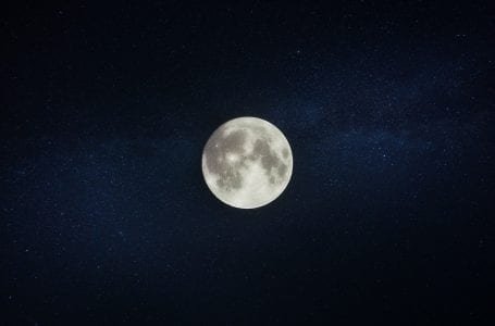 Picture of the moon in the night's sky