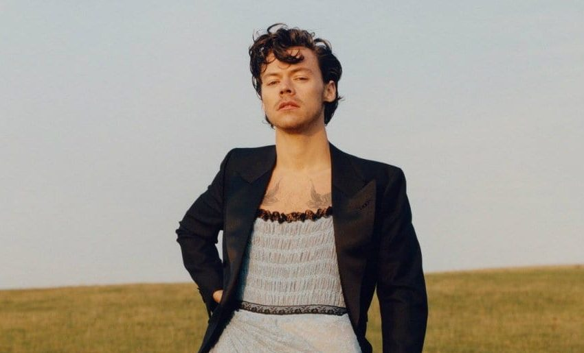 Harry Styles Is Standing On The Shoulders of Chiffon