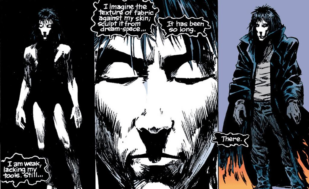 An excerpt of The Sandman from The Sandman comics