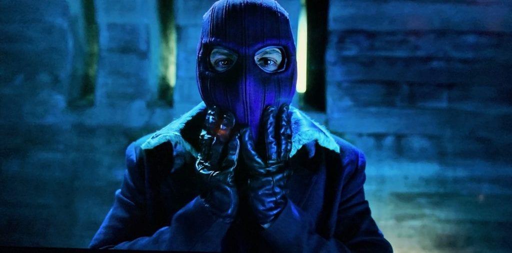 Zemo (Daniel Brühl) with his comic book mask.