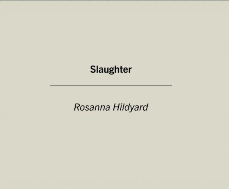 Book Review: Slaughter // Rosanna Hildyard