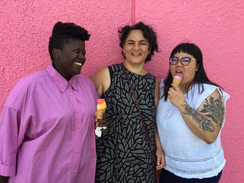 L-R: Lydia Okello, Shana Myara and Joanne Tsung