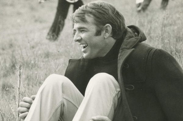 Black-and-white photograph of a young Alan Ludd Jr.