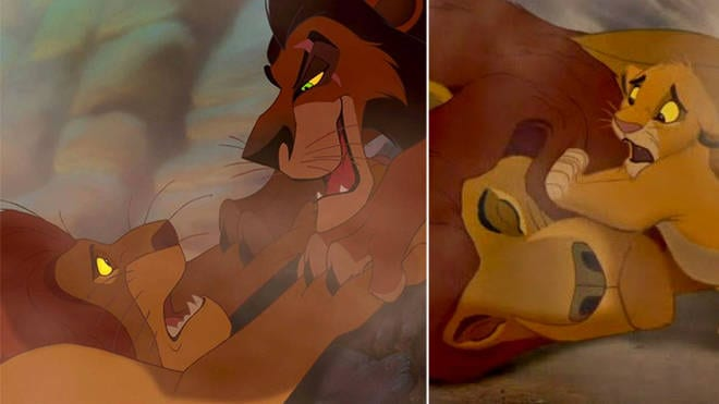 Mufasa's death in 'The Lion King'