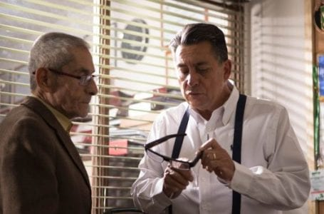 Sergio Chamy (L) and Romulo Aitken (R) as themselves in The Mole Agent.