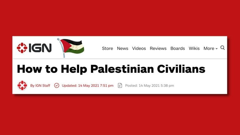IGN Employees Co-Sign Open Letter After Removal of Palestine Aid Post