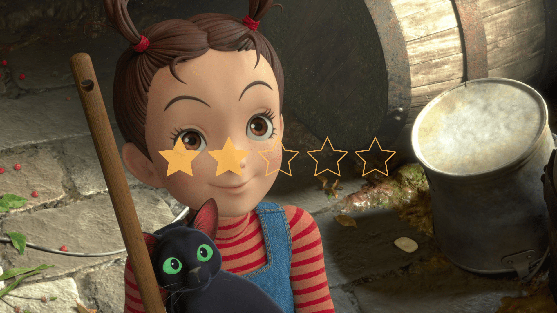 Earwig And The Witch is a charming and family friendly film which doesn't meet the high expectations we have for the studio who made it.
