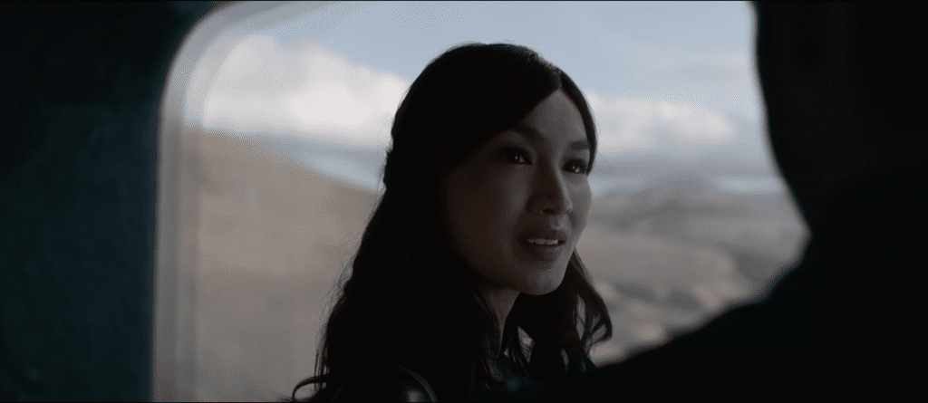 Gemma Chan as Sersi in a trailer for Marvel's Eternals