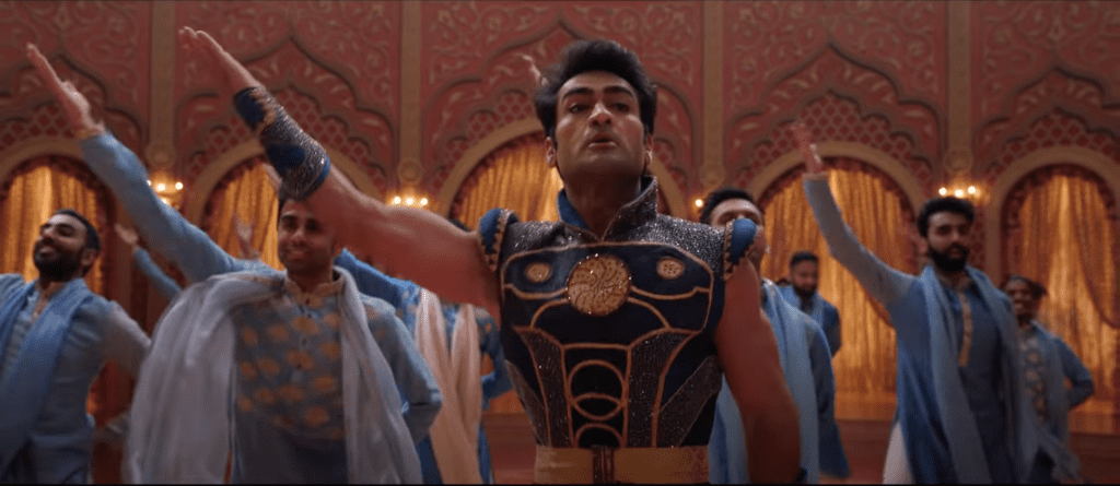 Kumail Nanjiani as Kingo in a trailer for Marvel's Eternals