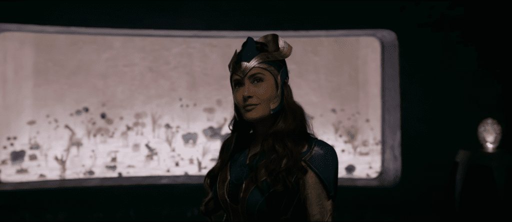 Salma Hayek as Ajak in a trailer for Marvel's Eternals