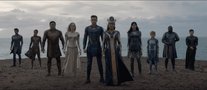 The cast of Marvel's Eternals as shown in a trailer