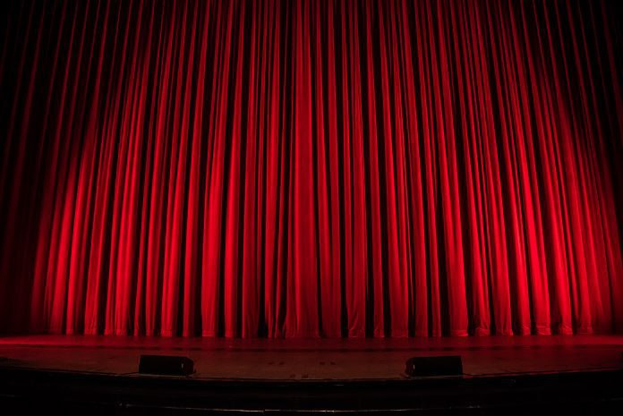 closed theatre curtain to illustrate 50% Funding Cuts For Arts Courses Approved article