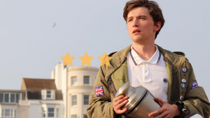 It might stop and start like a Lambretta scooter, but once it gets going, 'The Pebble and the Boy' proves to be a road trip movie with plenty of humour and heart.